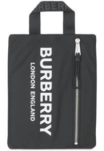 Burberry Carteira Portrait Com Estampa De Logo - Preto