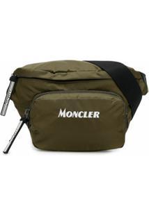 Moncler Pochete Com Logo Bordado Durance - Verde
