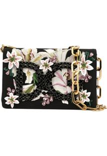 Dolce & Gabbana Bolsa Tiracolo Dg Girls Com Estampa Floral - Preto