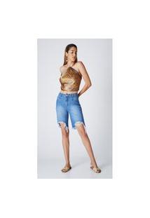 Bermuda Jeans Express Tradicional Naroka Azul