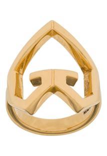 Givenchy Heart Charm Ring - Dourado