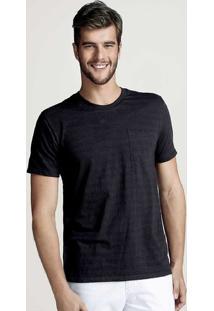 Camiseta Masculina Básica Em Flamê Na Modelagem World