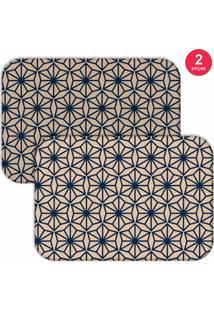Jogo Americano Love Decor Geometric Blue Bege/Azul