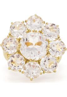 Anel De Ouro 18K Com Cristal