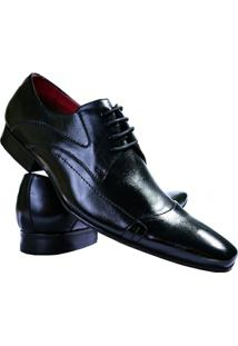 Sapato Social Couro Paulo Vieira Masculino - Masculino-Preto