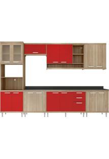 Cozinha Compacta Multimóveis Sicília 5835.132.815.694.61 Argila Vermelho Se