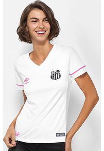 Camisa Santos I 2018 S/N° Torcedor Umbro Feminina - Feminino