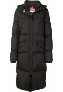 Parajumpers Hooded Long Puffer Jacket - Preto