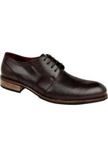 Sapato Casual Constantino Oxford Liso Masculino - Masculino-Café