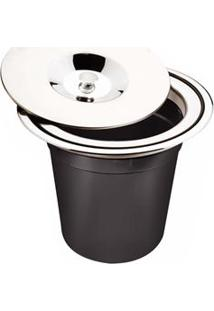 Lixeira De Embutir Tramontina Com Tampa Clean 94518/005 Em Aço Inox - 5 L