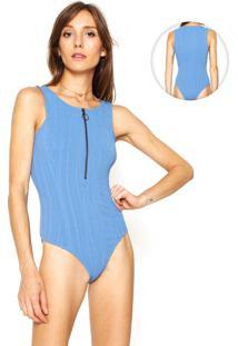 Body Le Lis Blanc Deux Textura Corrente Azul