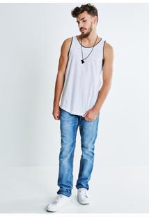 Calça Jeans Com Puídos