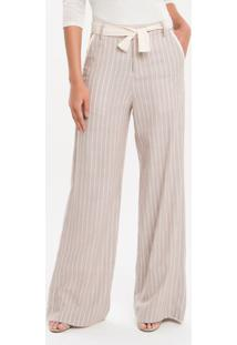 Calça Pantalona Nilo Calvin Klein - Caqui Claro - 36