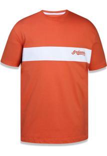 Camiseta New Era Regular Cleveland Indians Laranja