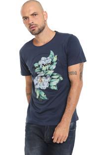 Camiseta Red Nose Floral Azul-Marinho
