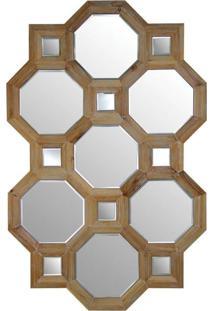 Espelho De Madeira Bisotado 120Cm X 78Cm - Incolor - Dafiti