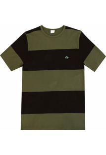 Camiseta Pau A Pique Listrada Marrom
