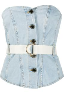 Pinko Blusa Jeans Comfort - Azul