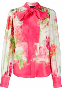 Marc Jacobs Blusa Com Estampa Floral Abstrata - Rosa