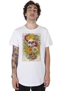 Camiseta Longline Stoned Wild Skull Masculina - Masculino
