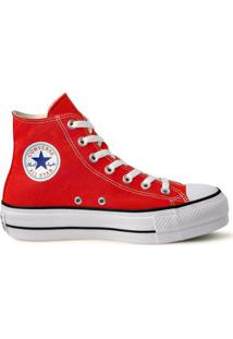 Tênis Converse Chuck Taylor All Star Platform Hi - Feminino-Vermelho