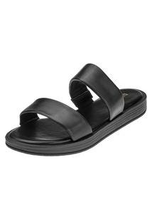 Sandália Chinelo Domidona Slide Tiras Preta