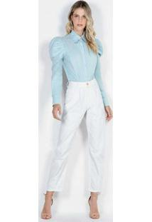 Body Camisa Azul Bod23559 Azul