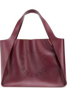 Stella Mccartney Bolsa Tote Perfurada Com Logo - Vermelho