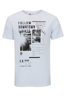 Camiseta Timberland Downtown - Masculina - Branco