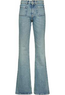 Miu Miu Calça Jeans Flare Jane - Azul