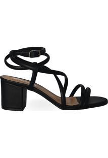 Sandália De Amarração Eloá Black