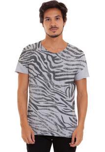 Camiseta Joss Zebrada Cinza