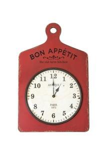 Relógio Decorativo De Parede Bon Appétit - Unissex