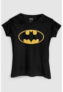 Camiseta Dc Comics Batman Clássico Bandup! - Feminino-Preto
