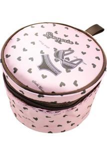 Necessaire Para Lingerie Tecido Coração Jacki Design Valentine Rosa