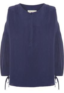 Camisa Feminina Pajuçara - Azul Marinho