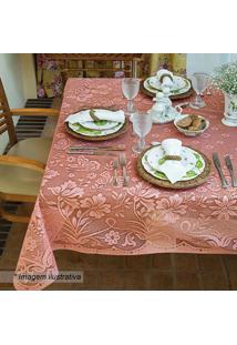 Toalha De Mesa Rendada Realeza- Rosa Claro- 210X150Clepper