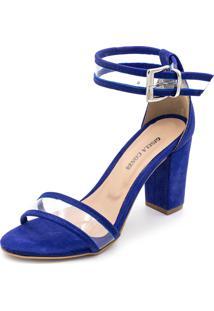 Sandália Salto Alto Grosso Gisela Costa Azul - Tricae
