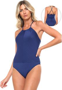 Body Mercatto Listrado Azul/Preto