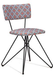 Cadeira Butterfly Aço Daf Cinza/Laranja