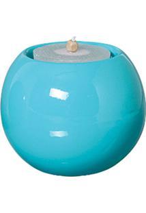 Castiçal Bella De Cerâmica 10Cm Azul Mazzotti