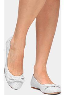 Sapatilha Shoestock Renda - Feminino-Branco