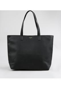 Bolsa Shopper Feminina Com Alças Fixas Preta - Único