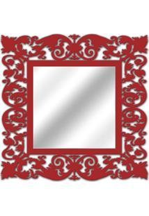 Espelho De Parede 14850V Vermelho 70X70 Art Shop