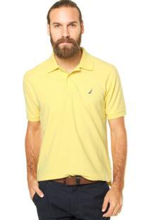 Camisa Polo Nautica Reta Amarela
