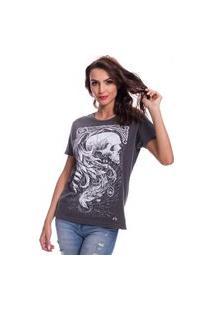 Camiseta Jazz Brasil Caveira Fênix Preto Estonado
