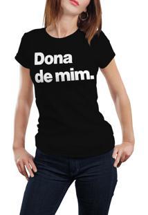 Camiseta Hunter Dona De Mim Preta