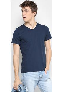 Camiseta Drezzup Gola V Masculina - Masculino-Azul