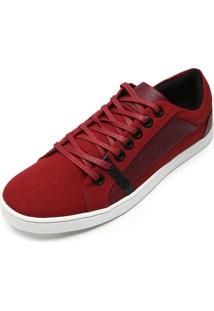 Tênis Calvin Klein Recortes Vermelho