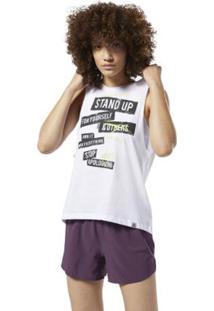 Camiseta Reebok Regata F Stop Apologizing Feminina - Feminino